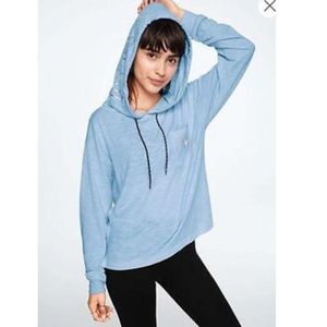PINK Victoria's Secret blue pullover hoodie small